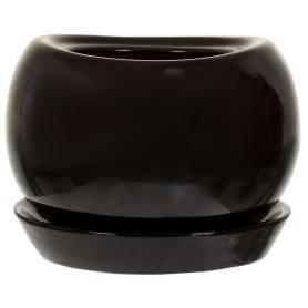Горшок цветочный «Адель» D13, 1л., керамика, Черный