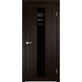 Дверь межкомнатная остеклённая Фортуна 60x200 см, ПВХ, цвет венге