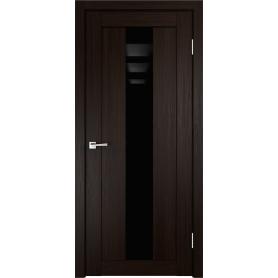 Дверь межкомнатная остеклённая Фортуна 80x200 см, ПВХ, цвет венге