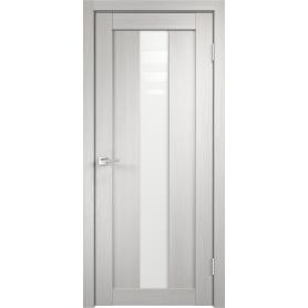 Дверь межкомнатная остеклённая Фортуна 60x200 см, ПВХ, цвет белый дуб