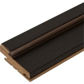 Комплект дверной коробки Дюплекс/Фортуна 2100х74 мм, ПВХ, цвет венге