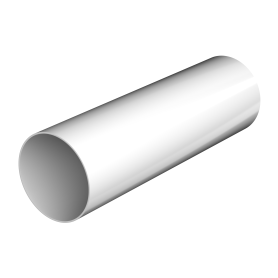 Verat труба 2 м цвет белый
