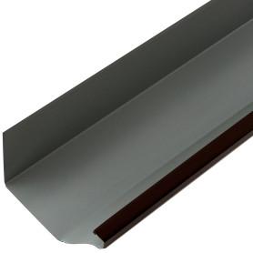 Желоб прямоугольный 3 м 120х86 мм цвет коричневый