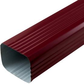 Труба водосточная 76х102х3000 мм цвет красный
