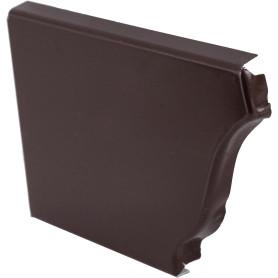 Заглушка желоба левая 120х86 мм цвет коричневый