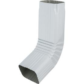 Колено прямоугольное 60° 76х102 мм цвет белый