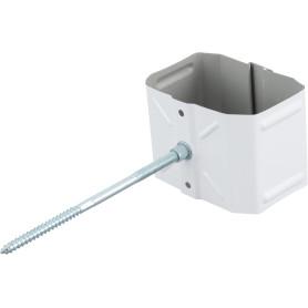 Хомут для водосточной трубы 76х102 мм цвет белый