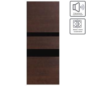 Дверь межкомнатная остеклённая шпон Модерн 60x200 см цвет антик