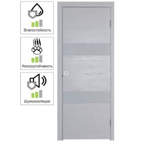 Дверь межкомнатная глухая шпон Модерн 70x200 см цвет белый ясень