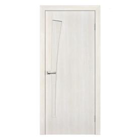 Дверь межкомнатная глухая ламинированная Белеза 60x200 см цвет белый дуб