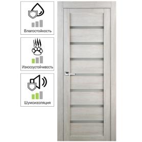 Дверь межкомнатная Лайн 80x200 см цвет дуб бриг