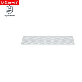 Панель перфорированная Larvij 585x155 мм, цвет белый