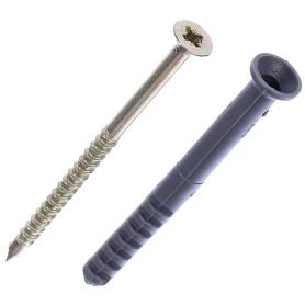 Дюбель-гвоздь потайной 8x80 мм, полипропилен, 10 шт.