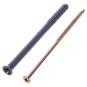 Дюбель-гвоздь потайной 8x120 мм, полипропилен, 10 шт.