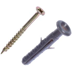Дюбель-гвоздь грибовидный 6x40 мм, полипропилен, 10 шт.