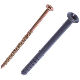 Дюбель-гвоздь грибовидный 6x80 мм, полипропилен, 10 шт.