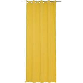 Штора на люверсах «Helena», 140х280 см, цвет жёлтый