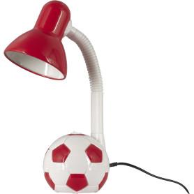Лампа настольная Мяч E27 40 Вт цвет бело-красный