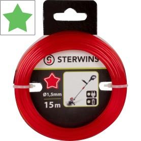 Леска сменная для триммера Sterwins 1.5 мм х 15 м, звезда, цвет красный