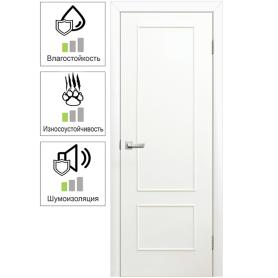 Дверь межкомнатная глухая ламинированная Классика 90x200 см цвет белый