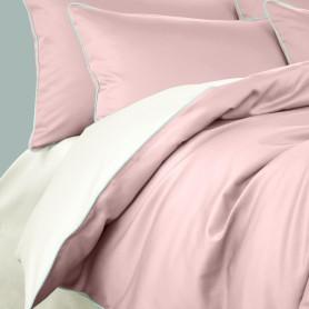 Комплект постельного белья Seta Smillo Satin Lotus полутораспальный сатин розовый