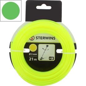 Леска для триммера Sterwins 3 мм х 21 м, круглая, цвет жёлтый