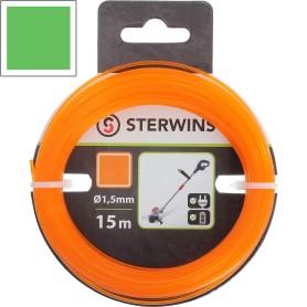 Леска для триммера Sterwins 1.5 мм х 15 м, квадратная