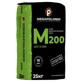 Цементно-песчаная смесь M200 мегаполимер 25 кг