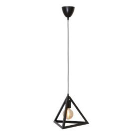 Подвесной светильник Пирамида 1хЕ27х40 Вт цвет чёрный