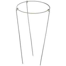 Опора садовая круглая, 1 кольцо, h30 см, d15 см, металл