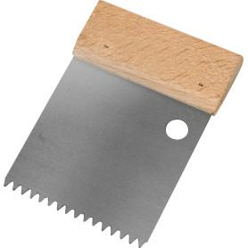 Шпатель зубчатый Dominus 80 мм S2, нержавеющая сталь