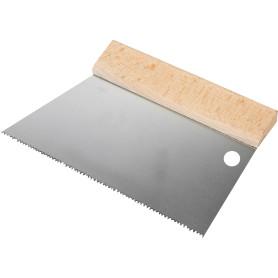 Шпатель зубчатый Dominus 180 мм S3, нержавеющая сталь