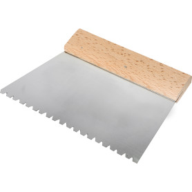 Шпатель зубчатый Dominus 180 мм B6, нержавеющая сталь