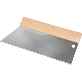 Шпатель зубчатый Dominus 250 мм S2, нержавеющая сталь