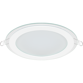 Светильник встраиваемый светодиодный круглый Gauss 18 Вт, стекло, свет нейтральный