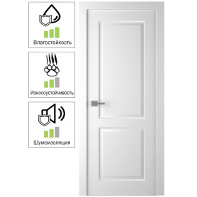 Дверь межкомнатная глухая Австралия 60x200 см цвет белый