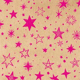 Бумага упаковочная крафт «Звёзды» 50х70/2 листа
