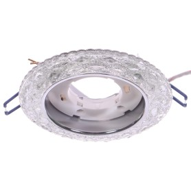 Светильник Эра с белой подсветкой GX53, металл, цвет прозрачный