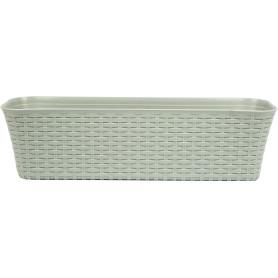 Ящик балконный Idea Ротанг 60x18x57.5 см v10 л пластик серый