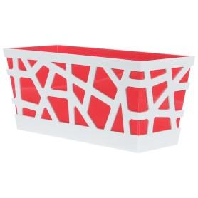 Ящик балконный Idea Мозаика 40x17x18.5 см v7.9 л пластик белый/красный