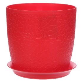 Кашпо цветочное «Верона», D16, 2, 3л. пластик, Красный