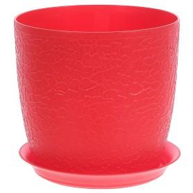 Кашпо цветочное «Верона», D18, 3л. пластик, Красный