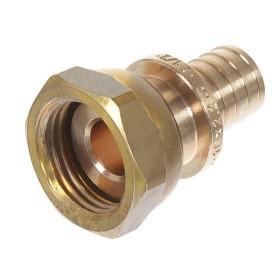 "Соединитель Rehau RX plus 16 мм х 1/2"" внутренняя резьба с накидной гайкой, бронза"