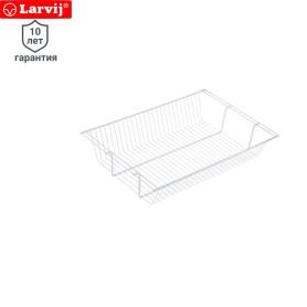 Полка-корзина Larvij 603x403x118 мм цвет белый