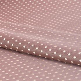 Ткань жаккард «Горошек» ширина 280 см цвет розовый