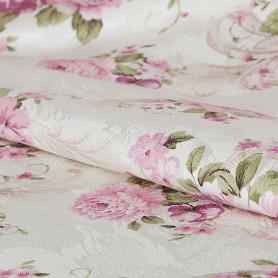Ткань «Интерио» розы  ширина 150 см