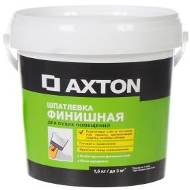 Шпатлёвка финишная Axton для сухих помещений 1,5 кг