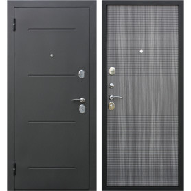 Дверь входная металлическая Гарда Муар 860 мм, левая, цвет венге тобакко