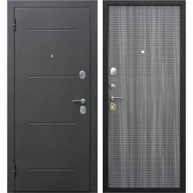 Дверь входная металлическая Гарда Муар 960 мм, левая, цвет венге тобакко