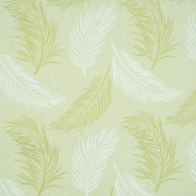 Ткань жаккард «Лён» листья 280 см цвет салатовый